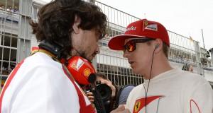 Kimi raikkonen y su ingeniero gp españa